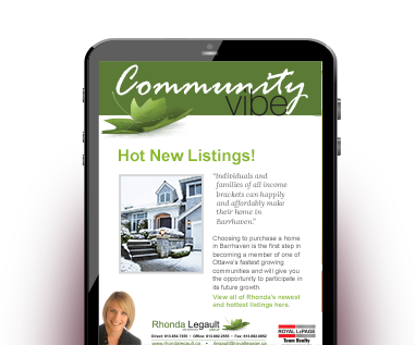 Rhonda's Real Estate Newsletter Community Vibe